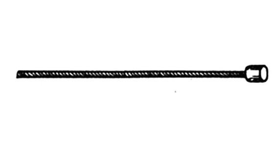 Diverse Kabel wewnętrzny Linka przerzutki 2200mm 10 x 2,6mm szary/czarny